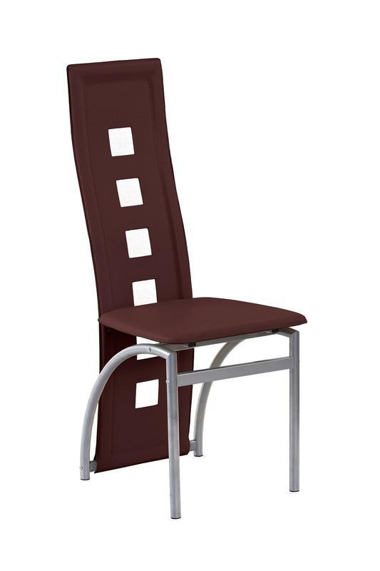 Kovová stolička K4 M Halmar tmavě hnědá