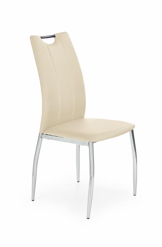 Kovová stolička K187 Halmar béžová