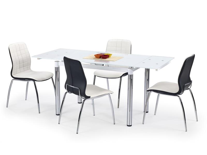 Sklenený jedálenský rozkladací stôl L31 Halmar bílá