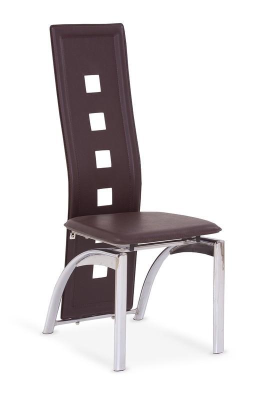 Kovová stolička K4 Halmar tmavě hnědá
