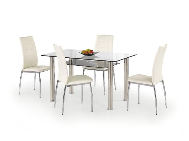 Sklenený jedálenský stôl Lenart HALMAR