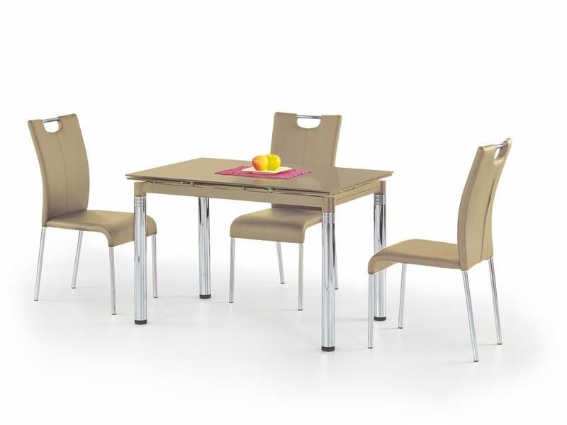 Sklenený jedálenský rozkladací stôl L31 Halmar béžová