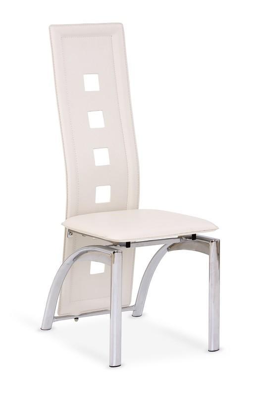 Kovová stolička K4 Halmar krémová