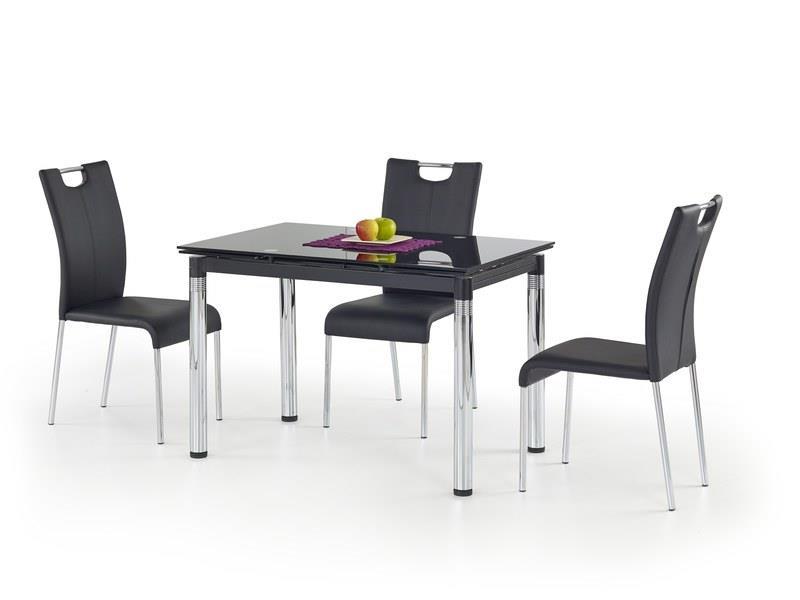 Sklenený jedálenský rozkladací stôl L31 Halmar čierna