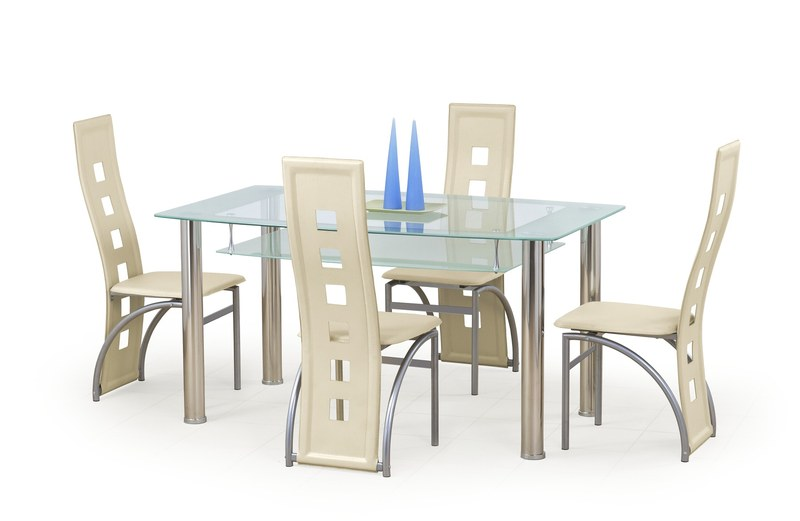 Sklenený stôl Cristal Halmar