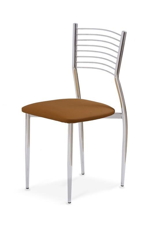 Halmar Kovová stolička K9 hnědá